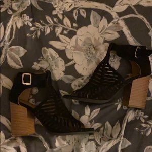 Adorable Black Charlotte Russe strappy heels
